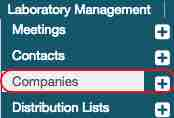 companies located under laboratory management